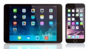 微型的IPad和iPhone 6 库存照片