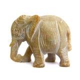 微型石大象手工造 库存图片