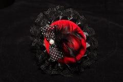 微型红色帽子 库存照片