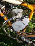 微型自行车的引擎 免版税库存图片