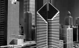 微型芝加哥街市大厦和摩天大楼installatio 库存图片