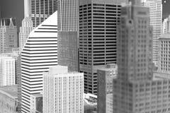 微型芝加哥街市大厦和摩天大楼installatio 免版税图库摄影