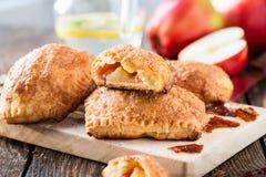 微型苹果桂香果馅奶酪卷 库存图片