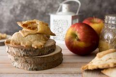 微型苹果饼 免版税图库摄影