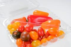 微型菜混合用胡椒和西红柿 库存照片