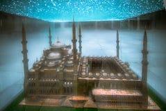 微型蓝色清真寺伊斯坦布尔 库存图片