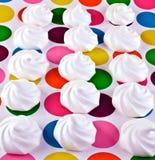 蛋白甜饼蛋糕 库存照片