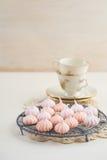 微型蛋白甜饼 免版税图库摄影