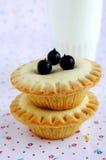 微型蛋糕用莓果 库存图片