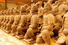 微型赤土陶器战士 免版税库存照片