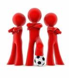 微型足球小组 库存图片