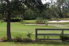 微型路线的高尔夫球 免版税库存照片