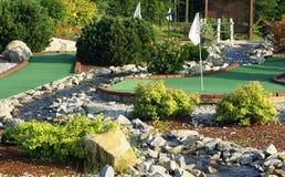 微型路线的高尔夫球 库存图片