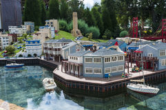 微型镇Legoland 免版税库存图片