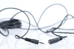 微型音频电缆的插孔 库存图片