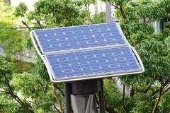 微型风&太阳供给动力的细胞 库存图片