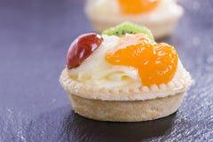 微型馅饼用布丁 免版税库存照片