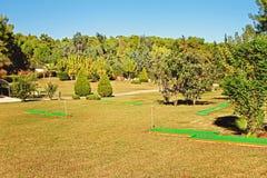 微型高尔夫球公园 库存图片