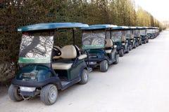 微型高尔夫球汽车 免版税库存照片