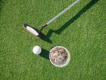 微型高尔夫球赛 免版税库存照片