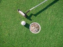 微型高尔夫球赛 库存照片