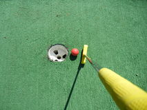 微型高尔夫球 库存图片