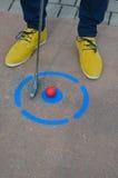微型高尔夫球 免版税图库摄影