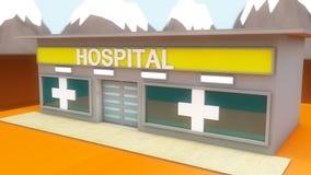 微型医院动画片 图库摄影