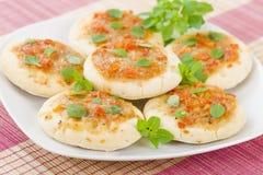 微型Margherita薄饼 免版税库存图片