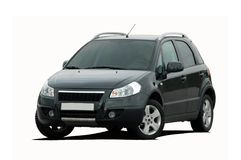 黑微型SUV 库存照片