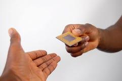 微处理器伸手可及的距离 免版税库存照片