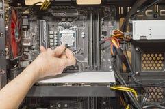 微处理器的热量浆糊 库存照片