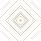 微妙的金黄传染媒介半音无缝的样式 与方形的栅格的辐形梯度 向量例证