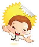 微小幸福的人 免版税库存图片
