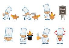 微小的厨师乐趣 库存照片