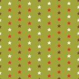 微小的圣诞节星,手拉的布朗 库存例证