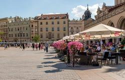 微小的地方caffee在克拉科夫的中心 库存图片