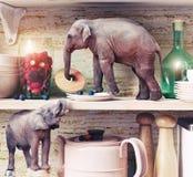 微小的大象 库存照片