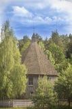 微小的木教会,立陶宛 库存照片