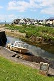 微小的港口Blackwaterfoot阿伦岛苏格兰 免版税库存照片