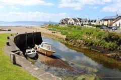 微小的港口Blackwaterfoot阿伦岛苏格兰 库存照片