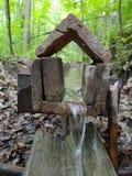 微小的瀑布在森林里 图库摄影