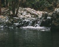 微小的瀑布 库存照片