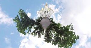 微小的行星寺庙在胜利广场哈尔科夫乌克兰 股票视频