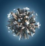 微小的行星的城市 库存照片