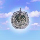 巴黎微小的行星 免版税库存照片