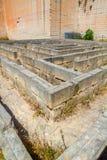 微小的迷宫由石头块做成在Lithica挖掘 免版税图库摄影