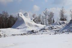 微小的雪山 库存图片