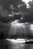 微明在多云天 免版税库存照片