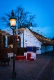 微明在老镇(v) -奥尔胡斯,丹麦 免版税图库摄影